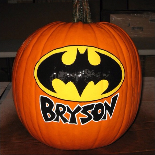 batman pumpkin halloween - How To Paint Pumpkins For Halloween