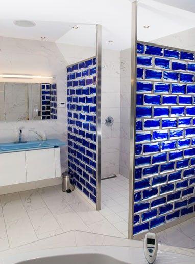 Bouwglas Gesman B.V. | Glazen bouwstenen | Glasblokken | Glastegels (Product) - VetroPieno, een massief glazen bouwsteen in 4 verschillende kleuren