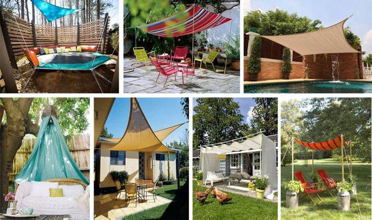 16 Easy DIY Backyard Sun Shade Ideas for your Backyard or Patio - The ART in LIFE