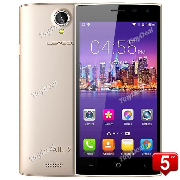 "LEAGOO ALFA 5 5.0"" HD IPS Spreadtrum SC7731 Quad core Android 5.1 3G Phone 1GB RAM 8GB ROM 8MP CAM P04-ALFA5 http://www.tinydeal.com/leagoo-alfa-5-50-hd-spreadtrum-sc7731-quad-core-android-51-3g-phone-p-157048.html"