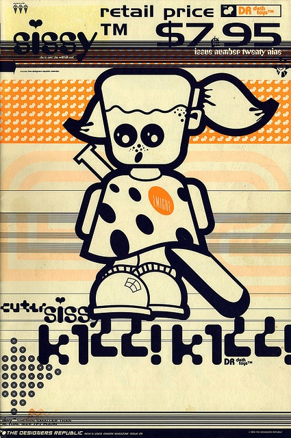 "cMag320 - Emigre Magazine cover ""Sissy Kill! Kill!"" by The Designers Republic / Issue nº 29 / July 1994"