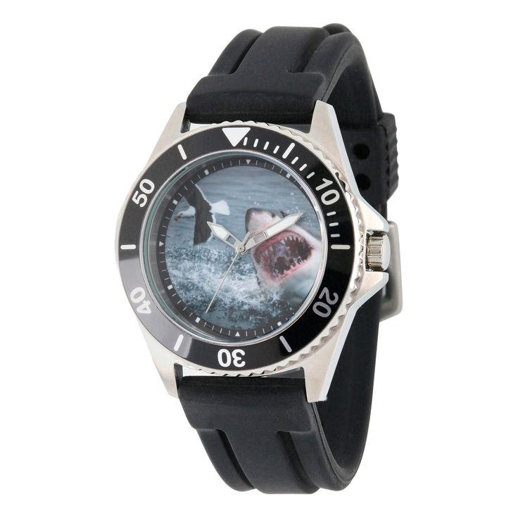 Men's Discovery Channel Shark Week Honor Stainless Steel Watch - Black