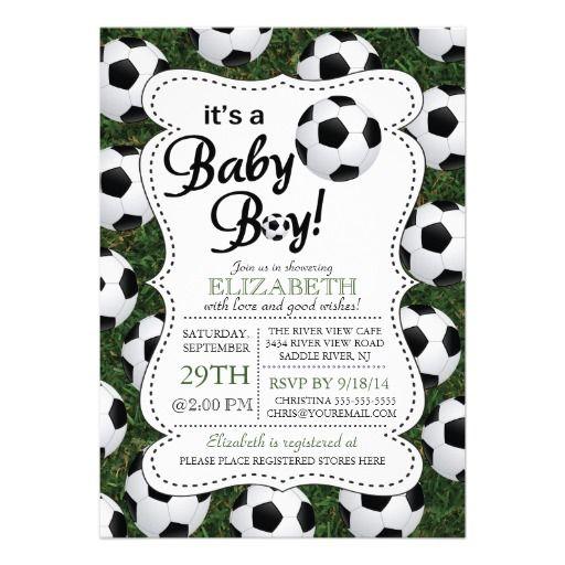 It's a Baby Boy Soccer Baby Shower Invitation