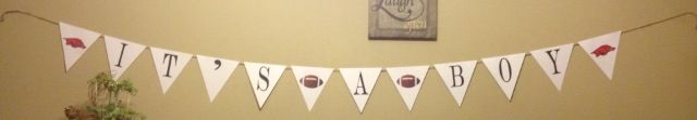 It's a boy razorback football banner!
