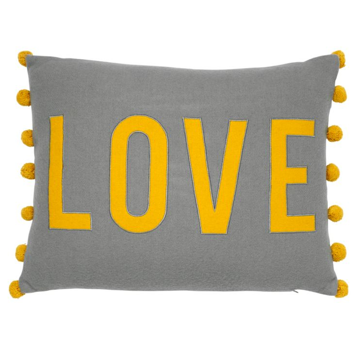 Asda home. Mustard love cushion