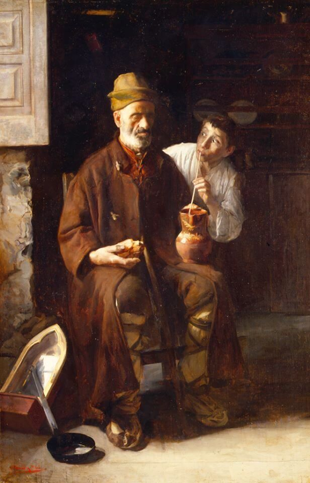 Lazarillo de Tormes pintado en 1900 por Luis Menéndez