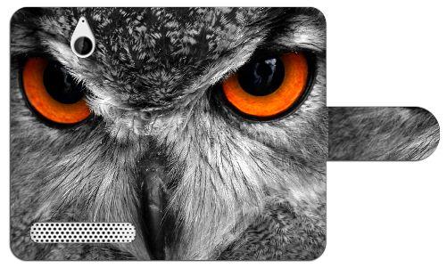 Sony Xperia E1 Uniek Ontworpen Design Hoesje Uil  Sony Xperia E1 uniek design boekhoesje met opbergvakjes. Door dit beschermhoesje heb je geen krassen deukjes of andere mogelijke beschadigingen aan je telefoon. Het hoesje is gemaakt van hoge kwaliteit PU-leder en heeft een plastic case. Deze case is speciaal voor de Xperia E1 gemaakt zodat je toestel er veilig en stevig in past. In de case zijn uitsparingen gemaakt zodat alle knoppen en poorten van je telefoon altijd te gebruiken blijven. Zo…
