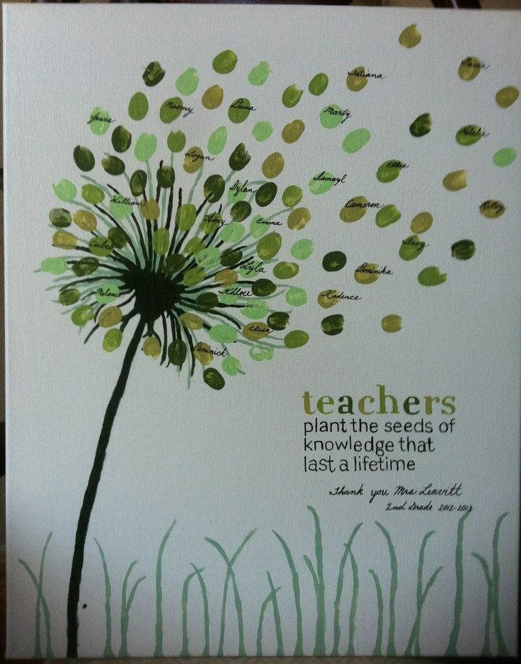 We LOVE this teacher gift idea with floating thumbprint seeds!