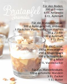 Rezept Bratapfel Tiramisu | recipe |  christmas dessert | apple dessert | christmas | Weihnachtsdessert | Winterdessert | Schichtdessert | how to Tutorial