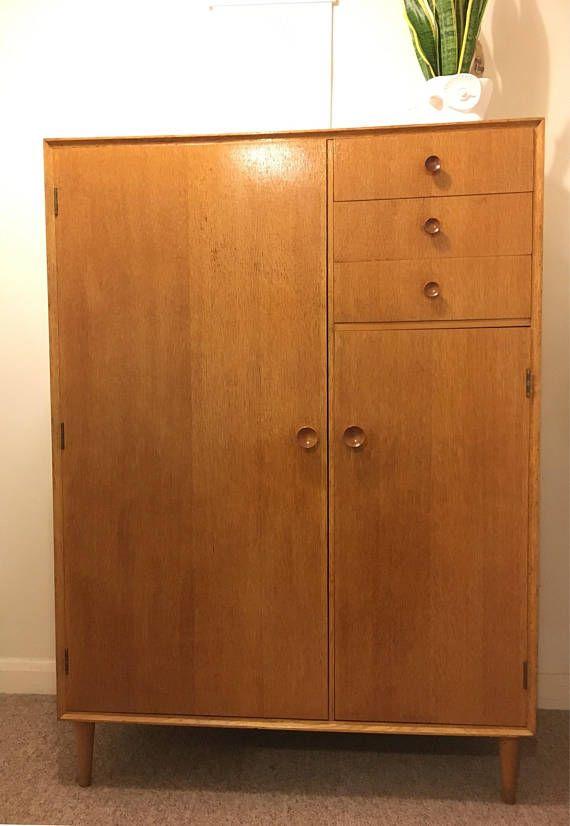 1960s Oak Gentleman S Wardrobe Dresser By Meredew Wardrobe Dresser Retro Mid Century Gentleman S Wardrobe