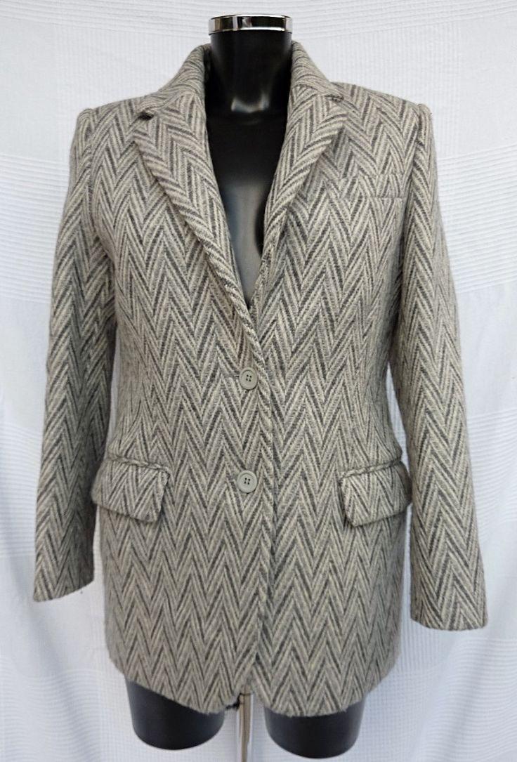 Veste grise - Laine - Femme - Vintage - Années 90 - REGINA RUBENS - Taille 36 (Size S) de la boutique TheNuLIFEshop sur Etsy
