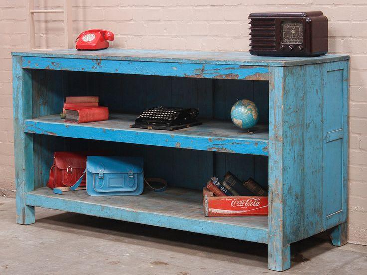 Large Blue Vintage Shop Counter KItchen Island Thumbnail
