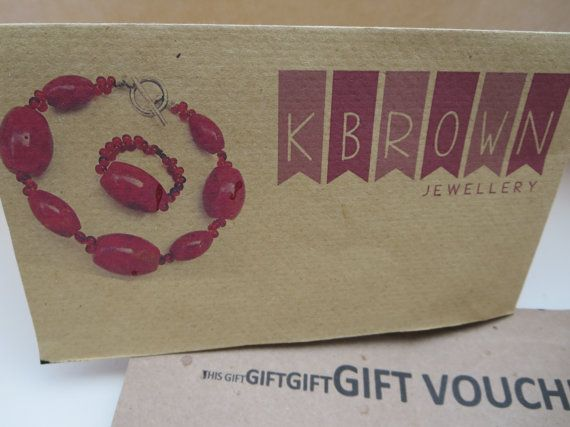 GIFT VOUCHER Mothers day present Birthday by KBrownJewellery, £30.00 Make someone's day and give a voucher #etsy