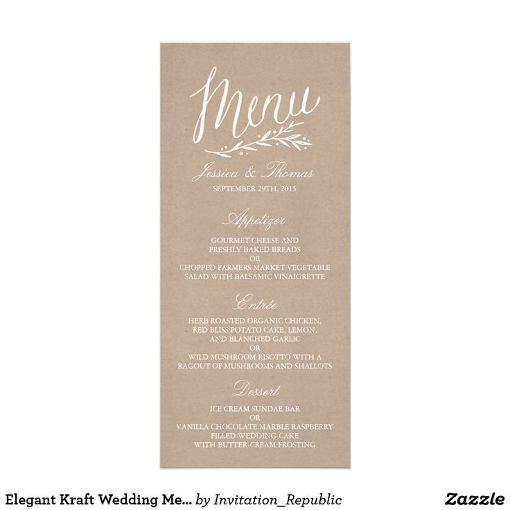Best Wedding Menu Cards Images On Pinterest Wedding Menu