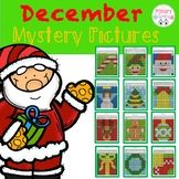 December/Christmas Color the 100 Chart Mystery Picture