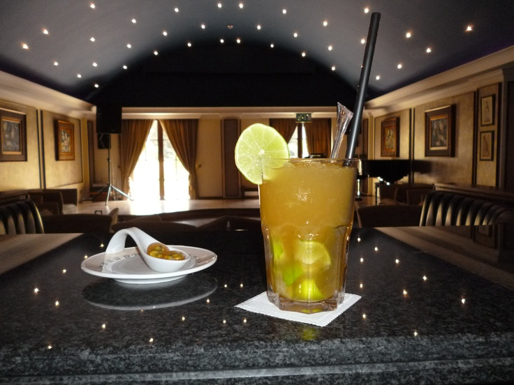"""Passion Fruit Caipirinha with Identical Jelly Shot"" Molecular Cocktail at the Elysium – 5 Star hotel in Cyprus"