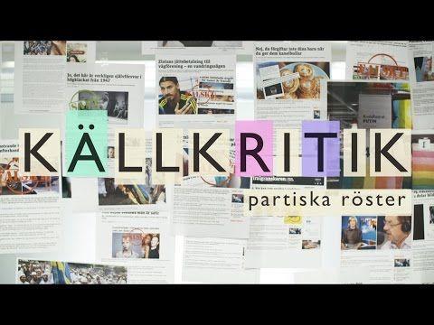Partiska röster - Källkritik - YouTube