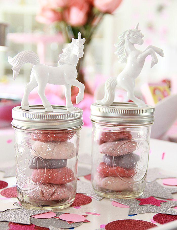 DIY Unicorn Glitter Party Favor- Includes Kool Aid Dye Play Dough Recipe!