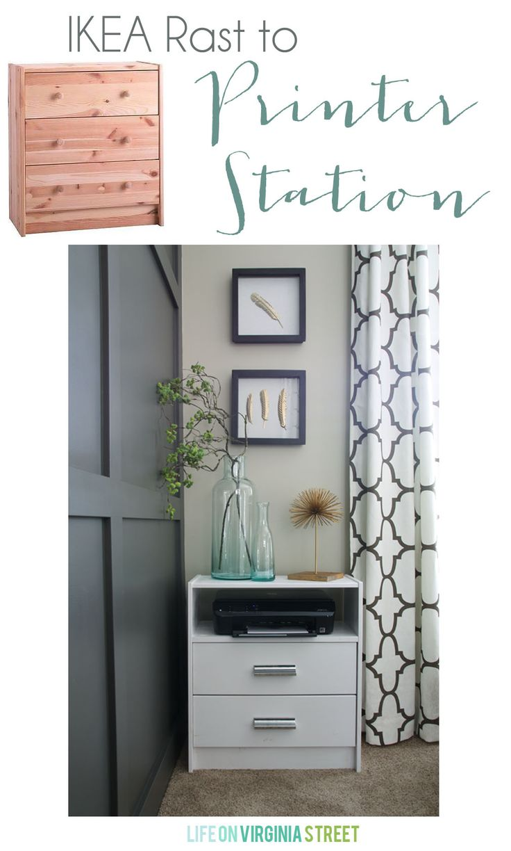 IKEA RAST HACK: featuring Antique White paint from Pittsburgh Paints &  Stains and Swoop cup - 64 Best Ikea Hacks With Hickory Hardware Images On Pinterest