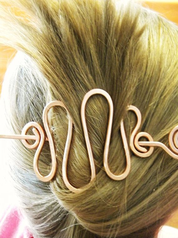 Metal Hair Clips Barrettes Hammered Copper by ElizabellaDesign, $18.50