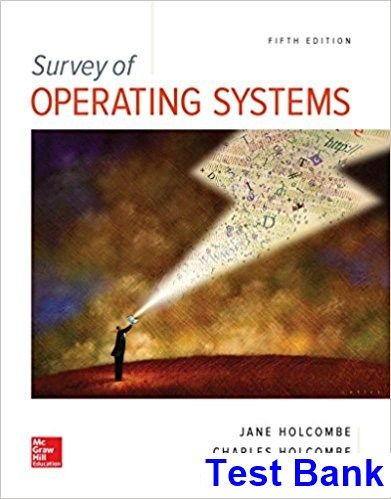 43 best test bank dowload images on pinterest manual textbook and mcgraw hill education is proud to introduce the fifth edition of jane and charles holcombes survey of operating systems fandeluxe Gallery