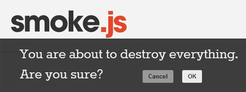 Standalone Library For Flexible JavaScript Notifications – Smoke.js
