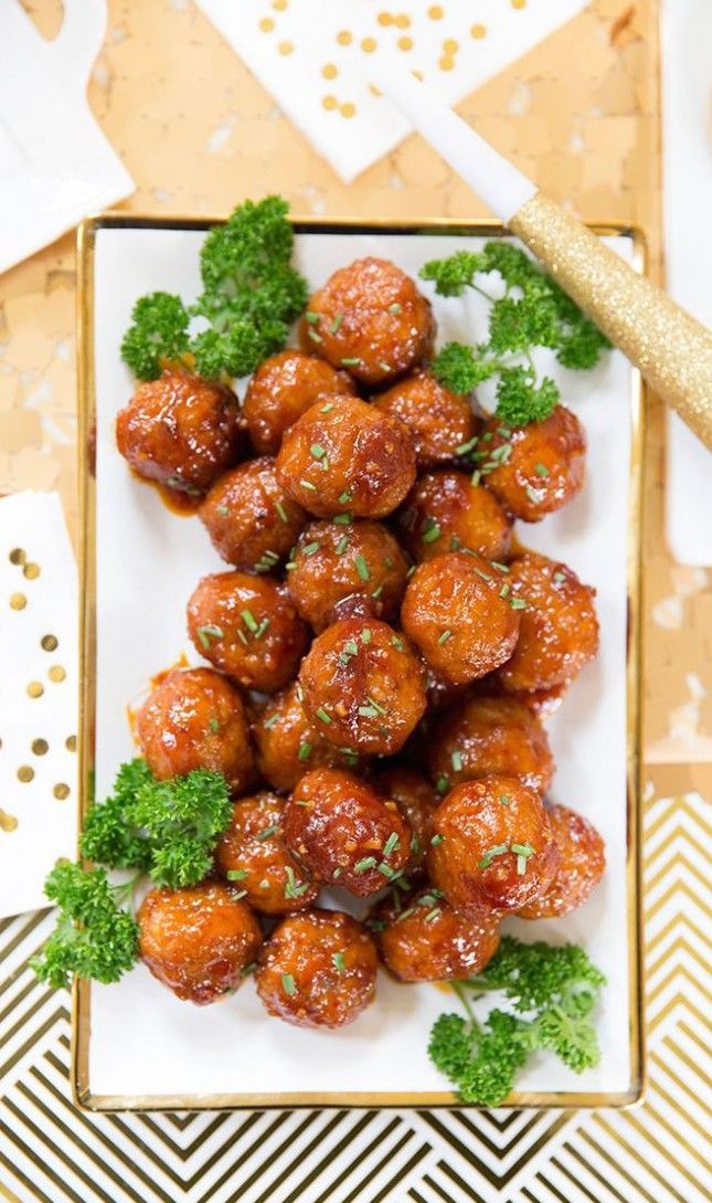 You can't go wrong with these Sweet + Spicy Meatballs.
