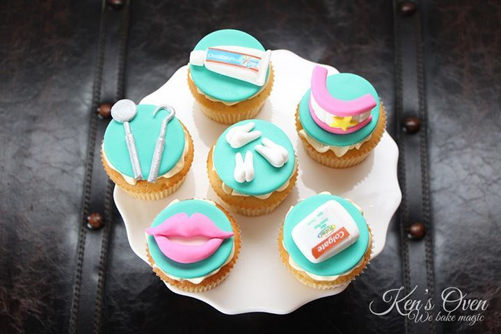 dentist cupcakes