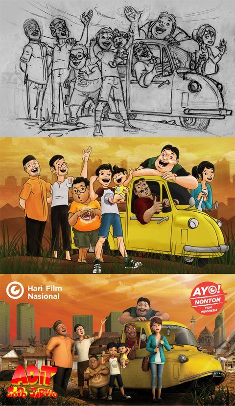 "Adit Sopo Jarwo The Best Fav Animation Series in Indonesia. Find them on Youtube ""Adit Sopo Jarwo"" by MD Animation"