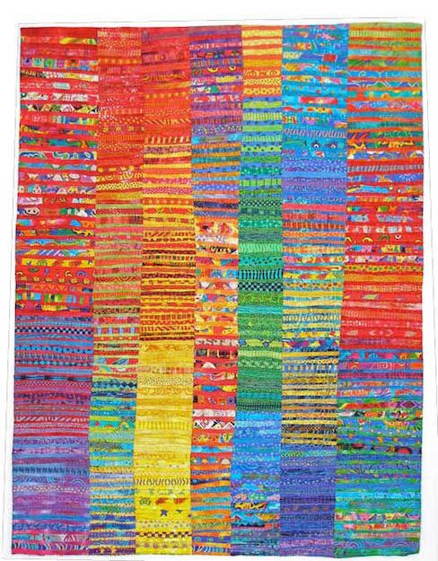 A New Day: Sunshine Dreams and Memories by Susan Rienzo (cotton, machine quilting)