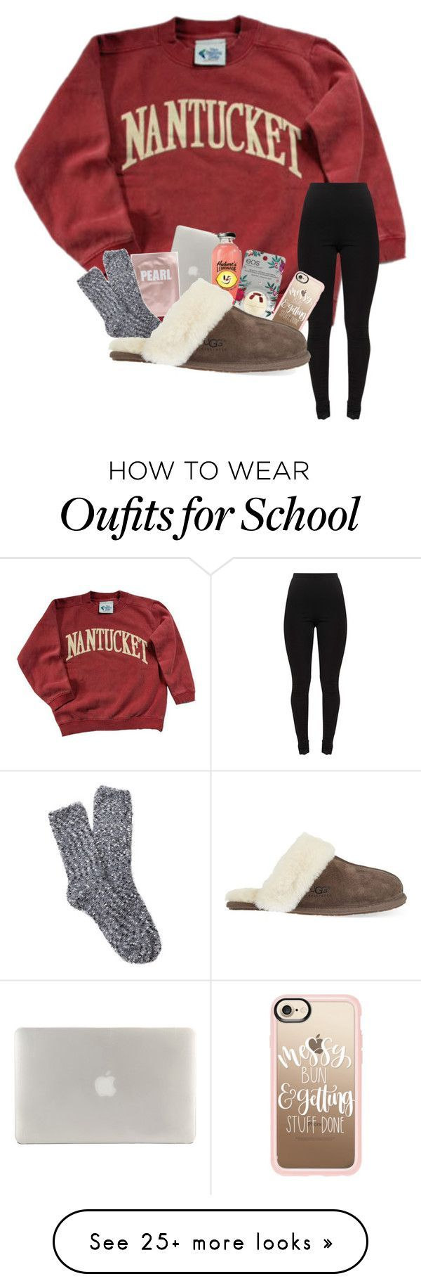 """no school tomorrow!! :)"" by gracewicz1 on Polyvore featuring Tucano, Casetify, Eos, Free Press and UGG #schooloutfits"