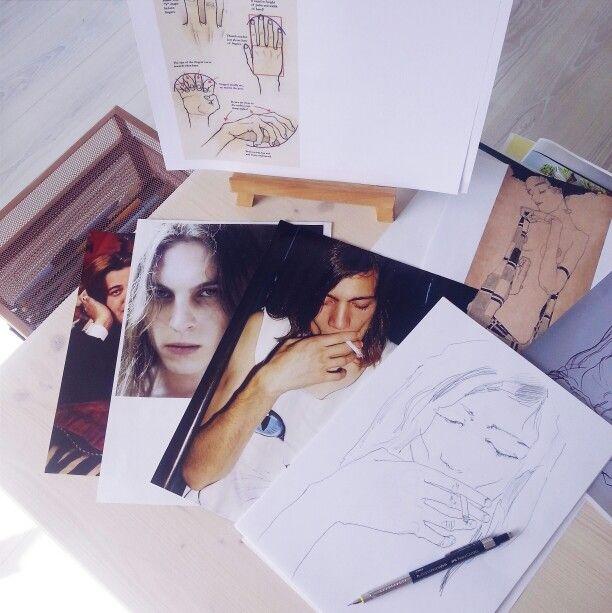 Sketching long haired boys / Maleen Dalan