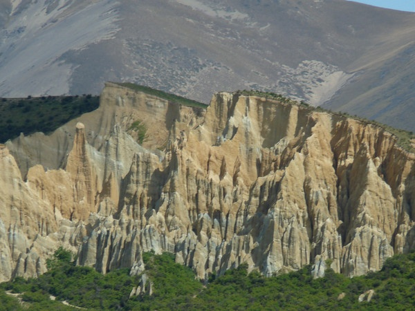 Clay cliffs at Omarama.