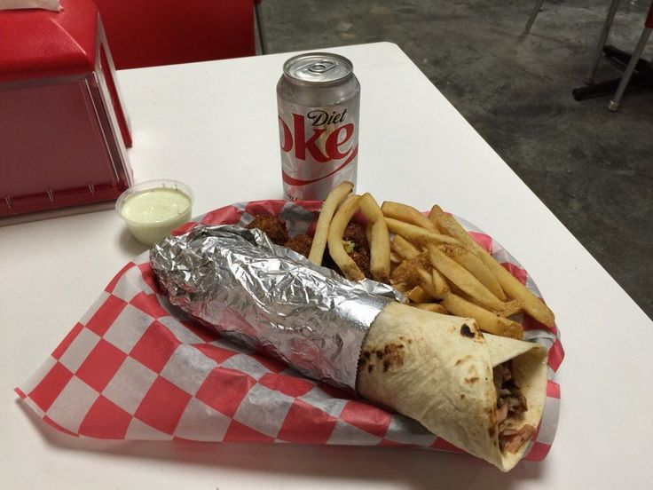 Arooba Turkish Grill Restaurant offers Falafel Meal Combo, Falafel roll + french fries + drink.