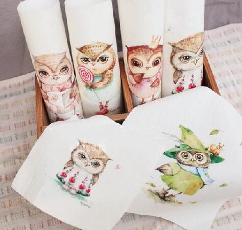 Aliexpress.com :  Neue 2 teile/los 15x15 cm Baumwolle leinwand Cartoon owl stoff…