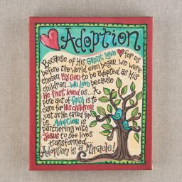 Adoption Canvas - I want this!!!!!!!! Love love love this sign from Thanks A Latte #adoption