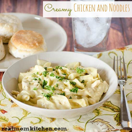 Creamy Chicken and Noodles | Real Mom Kitchen