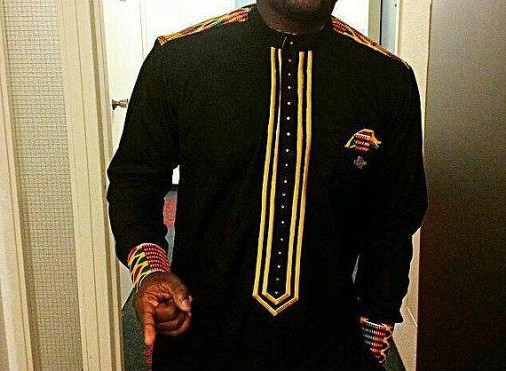 chemise africaine brodé africaine chemise homme / Ankara dessins/tendance mode africain chemise/Mens chemise africaine