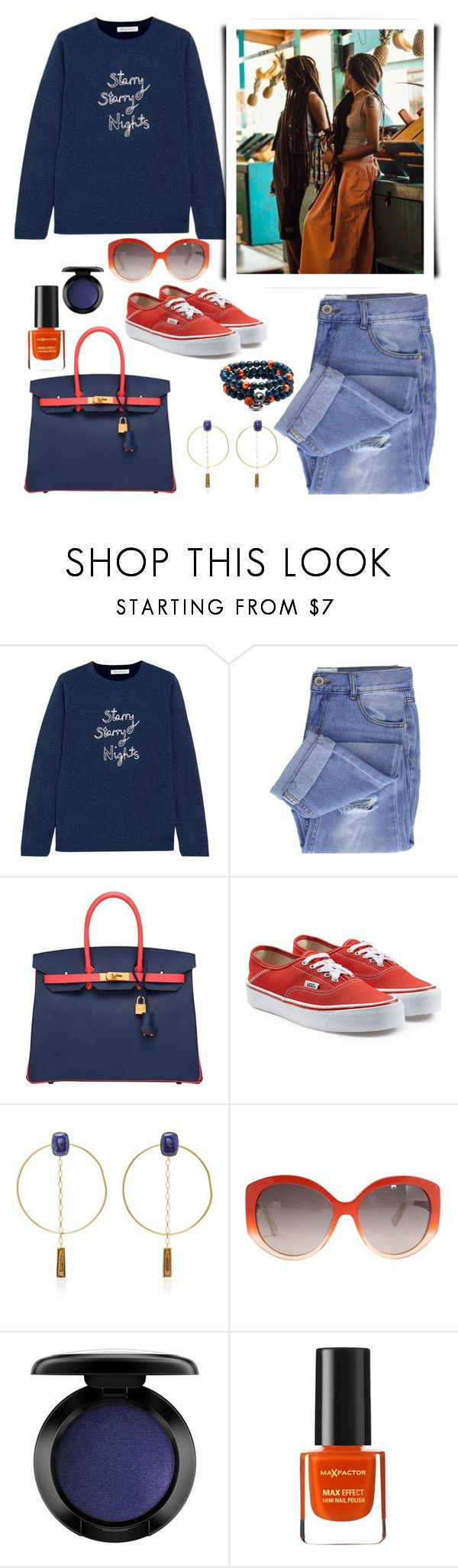 """Everyday Look"" by aharcaki on Polyvore featuring Bella Freud, Taya, Hermès, Vans, Isabel Marant, Christian Dior, John Lewis and Max Factor"