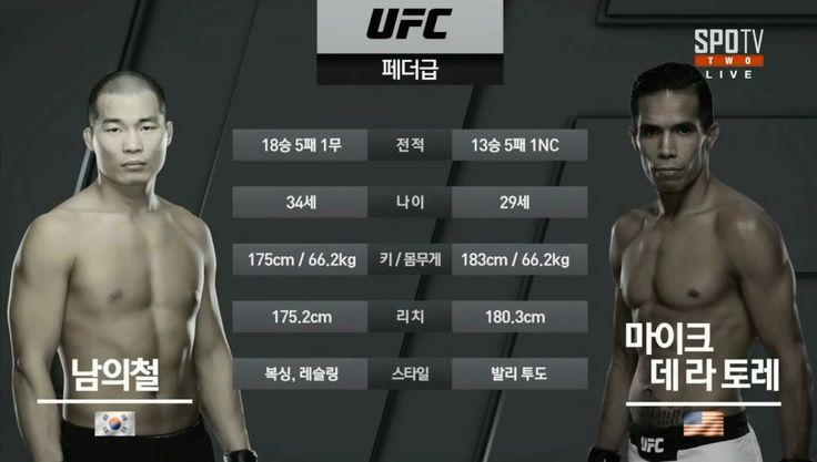 UFC 서울 남의철 데라토레 남의철 판정패