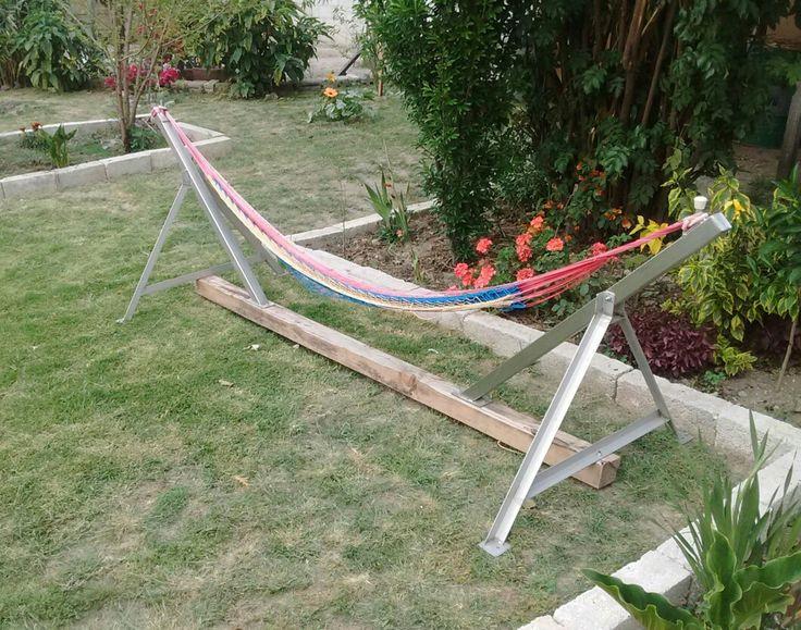 M s de 25 ideas incre bles sobre hamaca port til en pinterest patio hammock ideas 2 person - Estructura hamaca ...