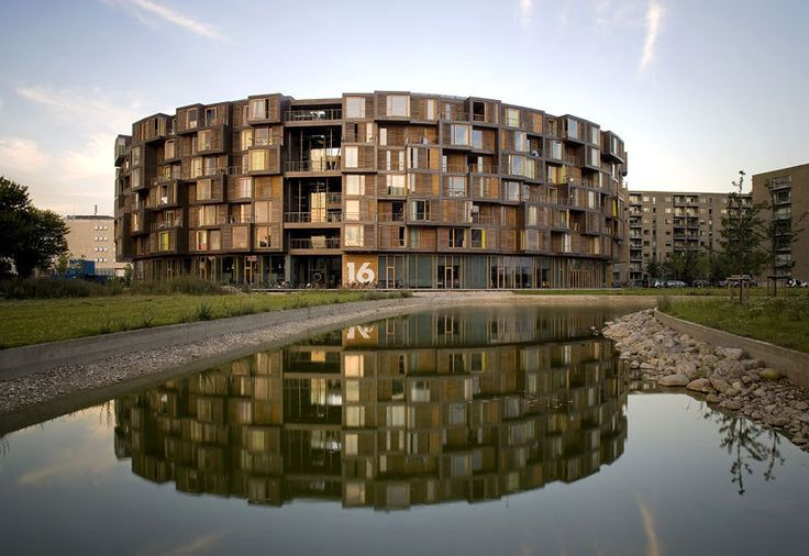 Photograph via Lundgaard & Tranberg Arkitekter   Located on Orestad, a newer district in Copenhagen, Denmark, lies the award-winning Tietgen Student Hall (Tietgenkollegiet), a large circular residence with a massive interior courtyard. The building was completed in 2006 and was designed by Lundgaard & Tranberg Arkitekter. The seven storey structure contains 360 rooms, comprising [...]: Copenhagen, Building, Favorite Places, College Dorm, Architecture