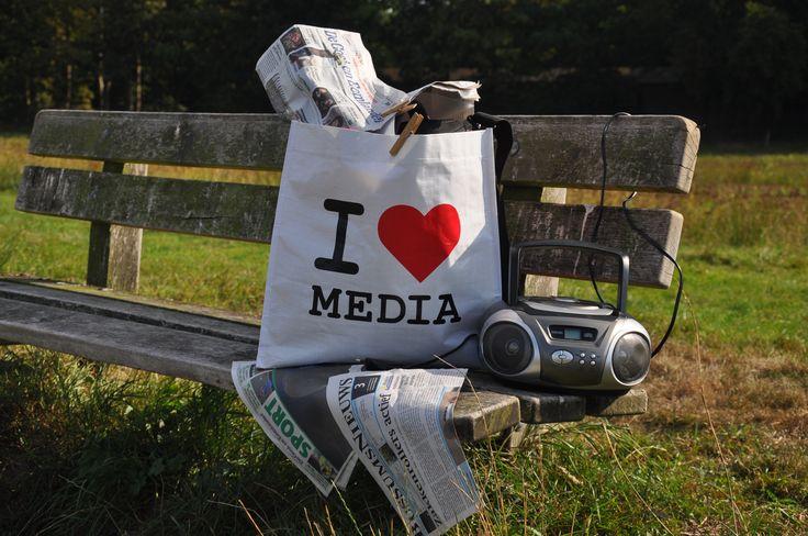 Dit zegt alles... I love Media foto: Ineke van Loon