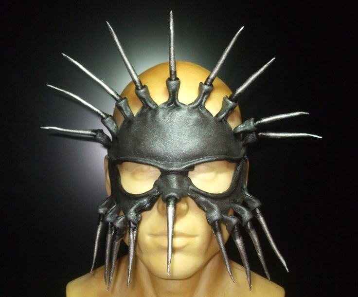 Spiked Tribal Demon Leather Mask 2.0. $89.95, via Etsy.