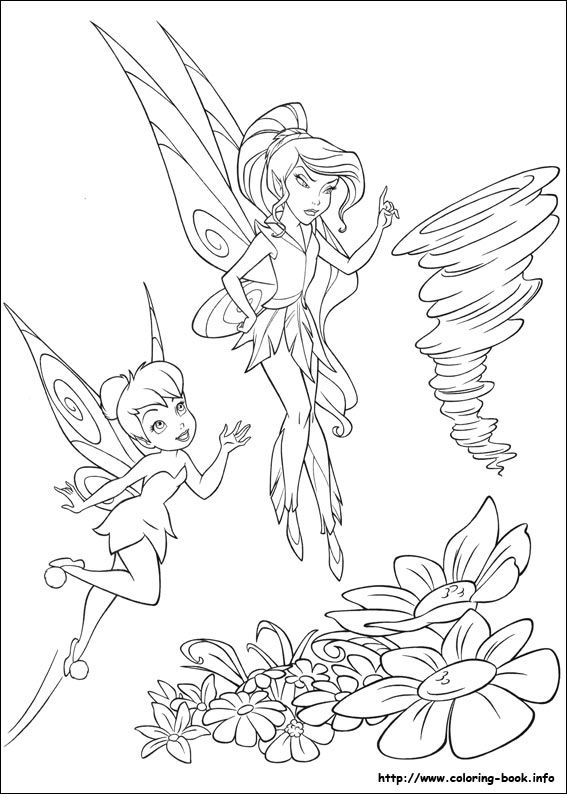 tinkerbell kids print off pictures - Disney Fairy Vidia Coloring Pages