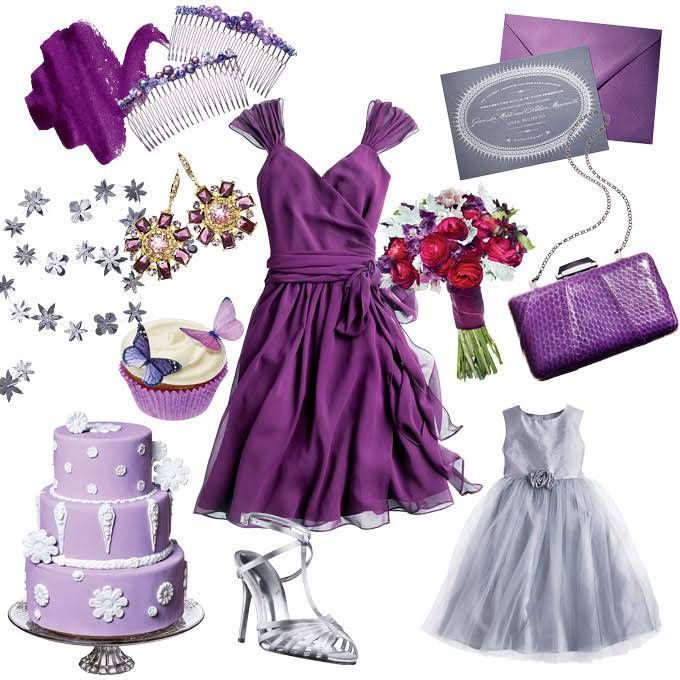 15 best my wedding ideas images on pinterest weddings bridal and cake wedding - Purple and silver color scheme ...