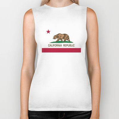California Republic state flag - Authentic Version Biker Tank by LonestarDesigns2020 - Flags Designs + - $28.00