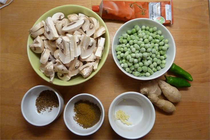 Mushroom and Pea Curry