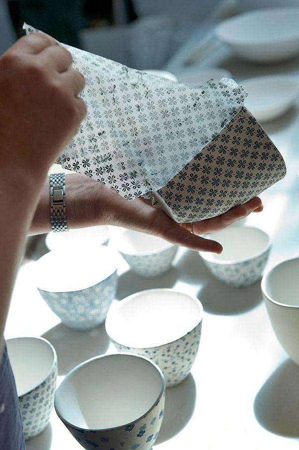 Papier japonais sur argile DIY – Sakarton