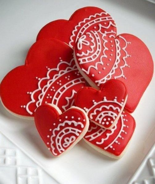 66 best Royal Icing Cookies: Valentines images on Pinterest ...